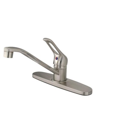 8 in. Wyndham Centerset Kitchen Faucet, Satin Nickel - image 1 of 1