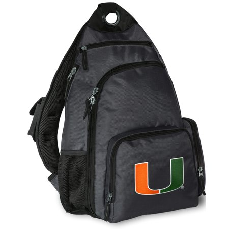 University of Miami Backpack Single BEST Strap Miami Sling