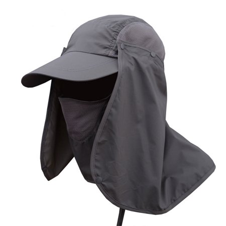 ed16cb4e0 Men Women Sun Protection Bucket Hat with Detachable Face Neck Cover Flap,  Summer Cycling Quick ...