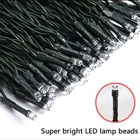 Image of LED String Lights Solar Christmas Lights 39ft 100 LED 8 Modes Ambiance lighting for Outdoor Patio Lawn Landscape Fairy Garden Home Wedding Holiday waterproof Colored lights