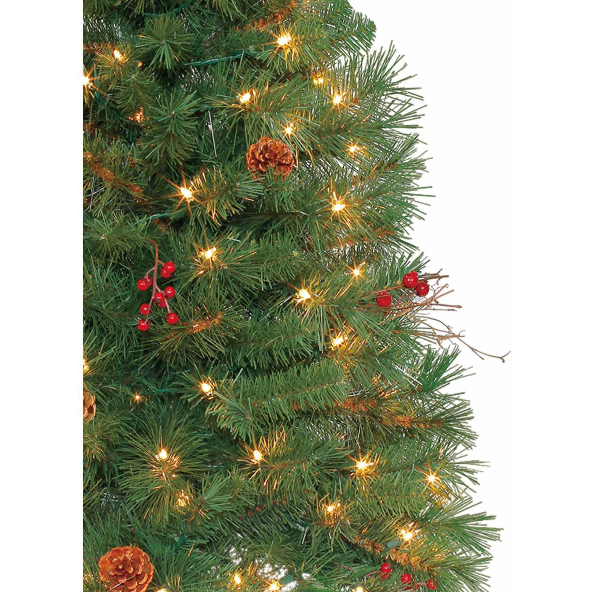 Holiday Time Pre-Lit 4\' Chester Pine Artificial Christmas Tree ...