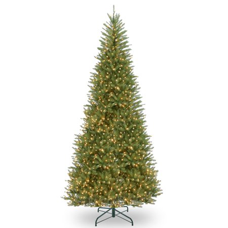 12 ft. Dunhill Fir Slim Tree with Clear Lights