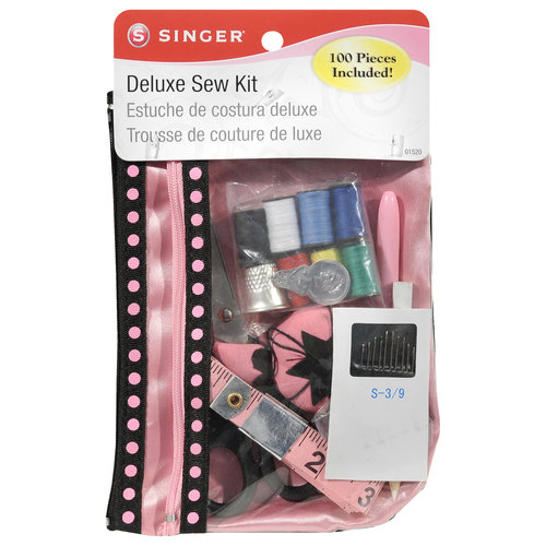 100pc Singer Deluxe Mini Travel Size Sewing Kit Bag Girls & Adult Needles Thread
