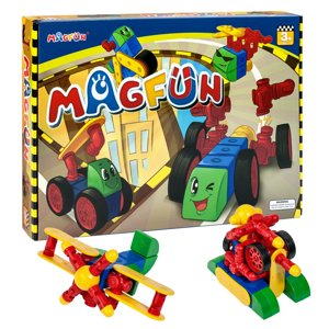 MagFun 32 Piece Magnetic Building Blocks 3D Shapes Educational Toy