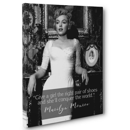 Marilyn Monroe Conquer Motivation Quote Canvas Wall Art