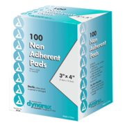 Dynarex Nonadherent Pads 3 Inches X 4 Inches Sterile 100 Each