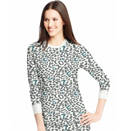 cca95c988cee Pink Leopard Womens X-Temp Thermal Printed Crew - Size S - image 1 of ...