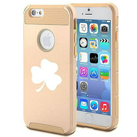 - Apple iPhone 6 Plus / 6s Plus Shockproof Impact Hard Case Cover 3 Leaf Clover Shamrock (Gold ),MIP