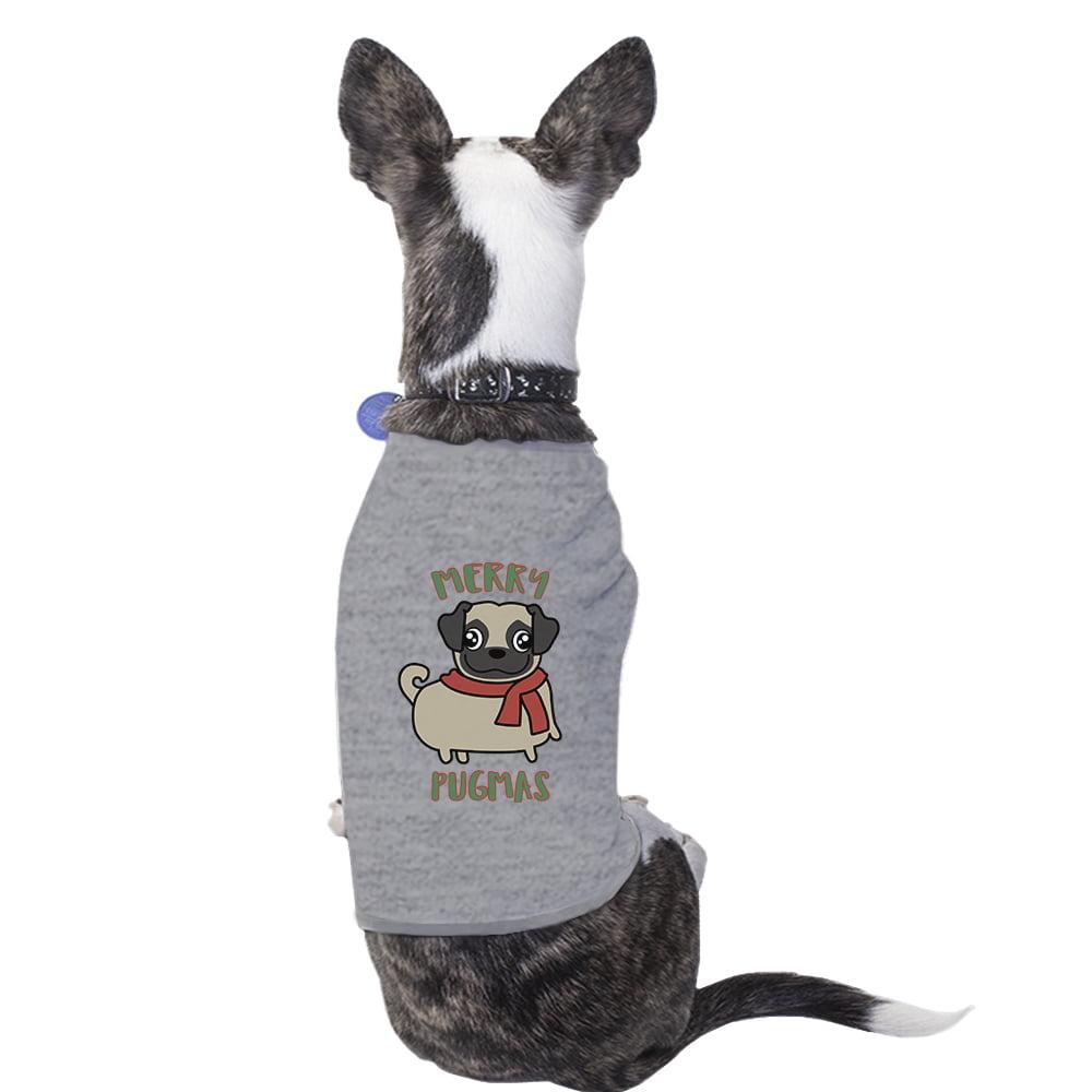 Merry Pugmas Pug Funny Graphic Pet Shirt Christmas Outfits For Pet