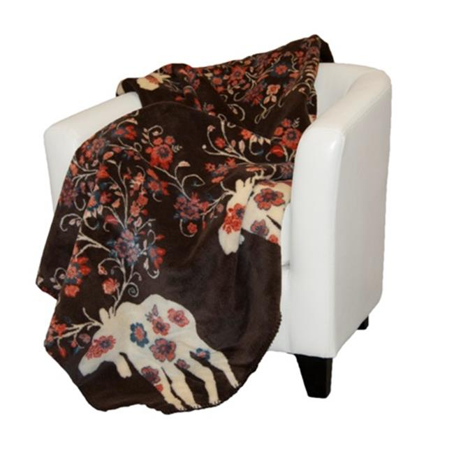 Denali Home Collection 16122750 Moose Blossom Taupe Microplush Throw
