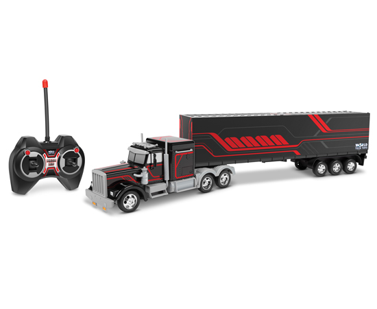 Semi Truck with Back Container by World Tech Toys