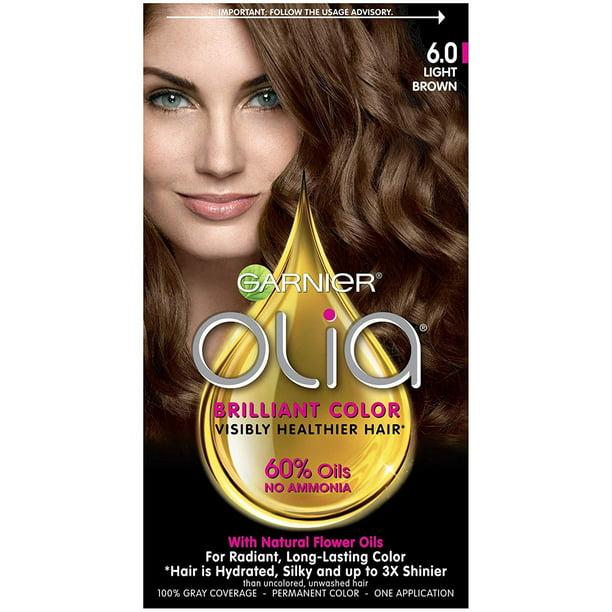 Garnier Olia Hair Color, 6.0 Light Brown, Ammonia Free ...