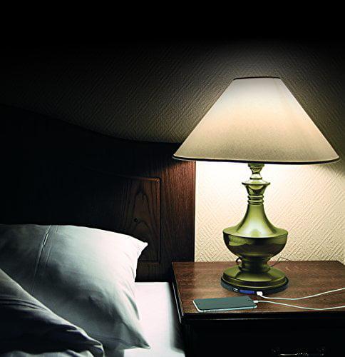Ideaworks USB LAMP BASE WITH NIGHT LIGHT Black