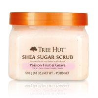 Tree Hut Shea Sugar Scrub Passion Fruit & Guava, 18oz, Ultra Hydrating and Exfoliating Scrub for Nourishing Essential Body Care