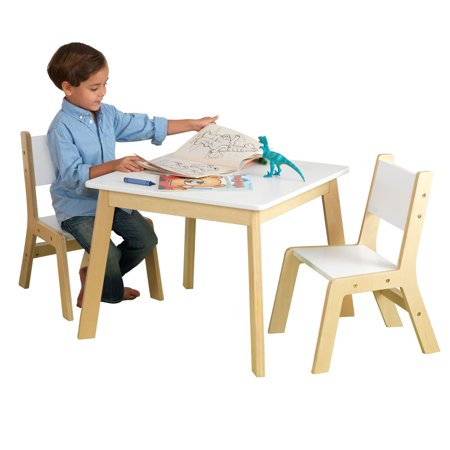 KidKraft Modern Table & 2 Chair Set, Multiple Colors