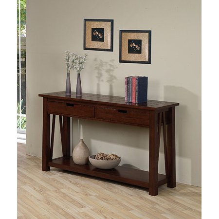 wonderful living room sofa table | Best Home Ozark Modern 2-drawer Sofa Console Table Living ...