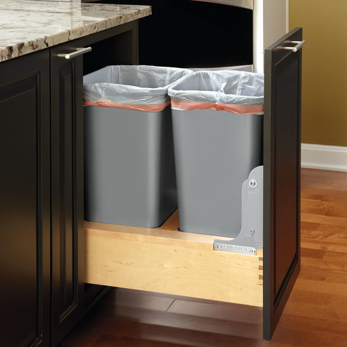 Rev-A-Shelf Plastic 12.5 Gallon Pull Out Trash Can