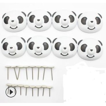 8 pcs Quilt Clip titulaire Mignon Drap De Lit Fixateur Antidérapant Housse de Couette Magnétique Anti-Déplacement Panda Boucle - image 1 de 3