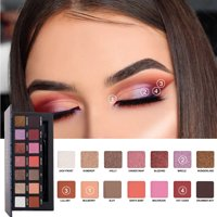 matoen HANDAIYAN 14 Colors Cosmetics Pearl Metallic Make Up Eye Shadow Palettes