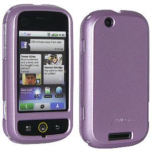 Premium Polished Purple Snap On Hard Shell Case for Motorola CLIQ MB200