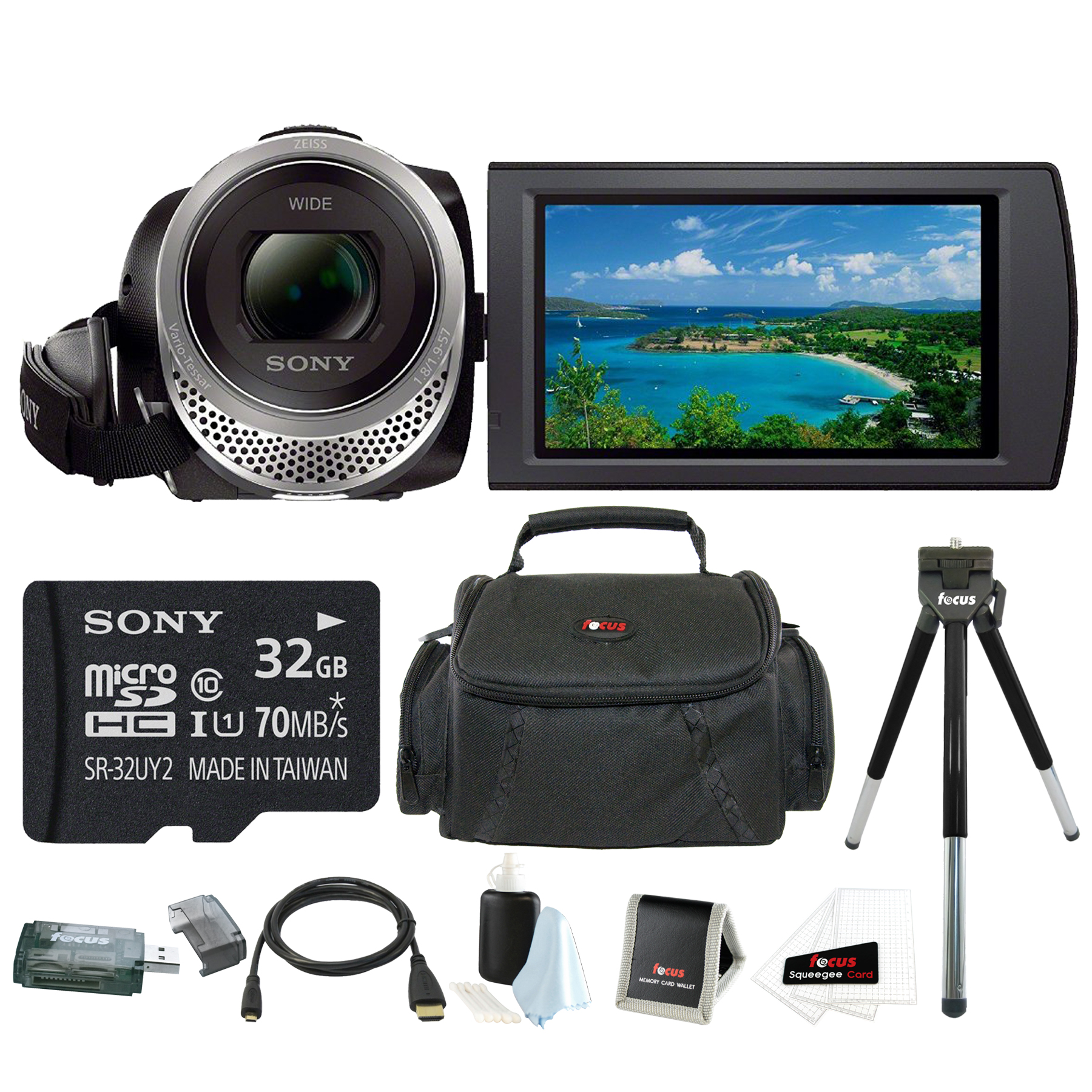 Sony HDR-CX455 Handycam Full HD 1080p Camcorder w/ 32GB M...