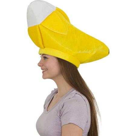 Yellow Velvet Banana Fruit Hat Costume - Yellow Fireman Hat
