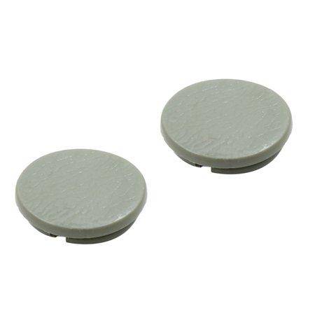 4pcs Gray Plastic Universal Car Decoration Screws Bolts Nuts Cap Covers 10mm - image 1 of 3