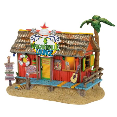 Dept 56 Margaritaville Village 4058488 Paradise Lounge Jimmy Buffet ()