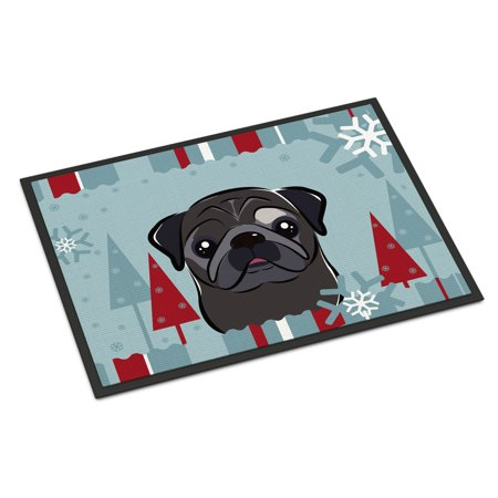 Classroom Door Ideas For Winter (Winter Holiday Black Pug Door)