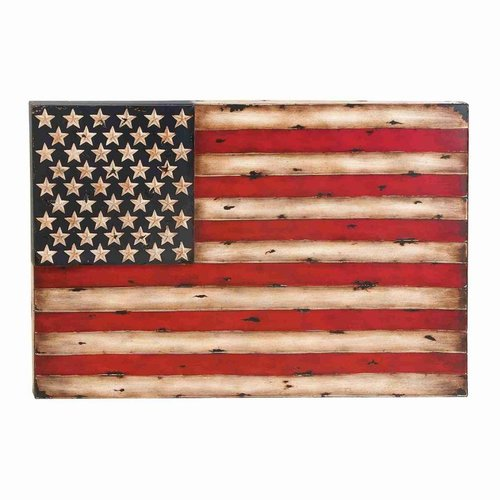 Woodland Imports 13965 Metal American Flag Wall Decor by Woodland Imports