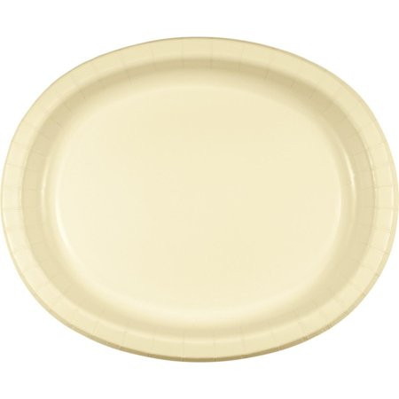 """Club Pack of 96 Ivory Disposable Paper Premium Strength Party Banquet Dinner Plates 12"""""""