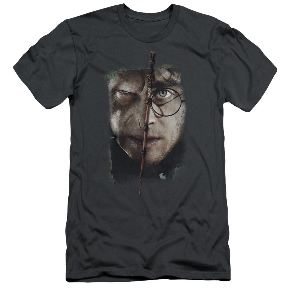 Harry Potter It All Ends Here Mens Premium Slim Fit Shirt
