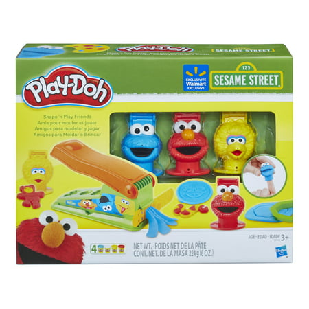 Play-Doh Sesame Street Shape 'n Play Friends with 4 Cans of Play-Doh