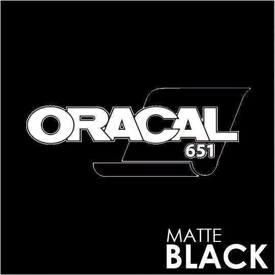 ORACAL 651 Vinyl Roll of Matte Black - Includes Free Multi-Purpose Squeegee - Choose Your Size