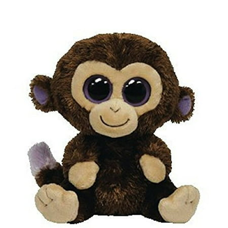 TY Beanie Boos -Coconut Monkey Brown (Glitter Eyes) Small 6