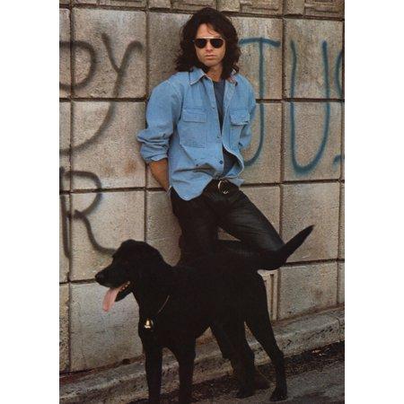 Jim Morrison Dog Poster Poster Print
