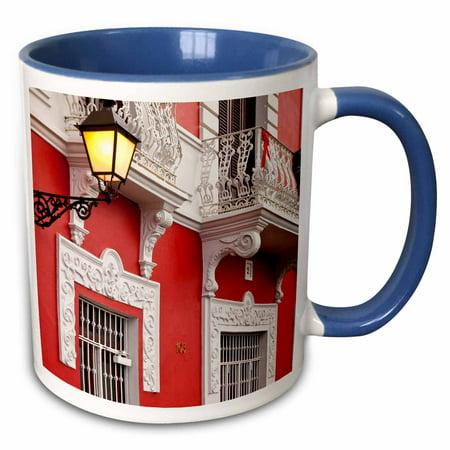 3dRose Colorful buildings in old San Juan, Puerto Rico - CA27 BJN0020 - Brian Jannsen - Two Tone Blue Mug,