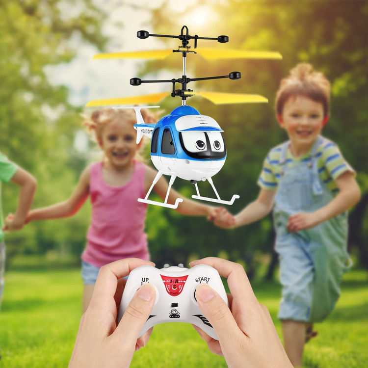 Mini Induction Flying Toys RC Helicopter Cartoon Remote Control Drone Aircraft for Kid... by