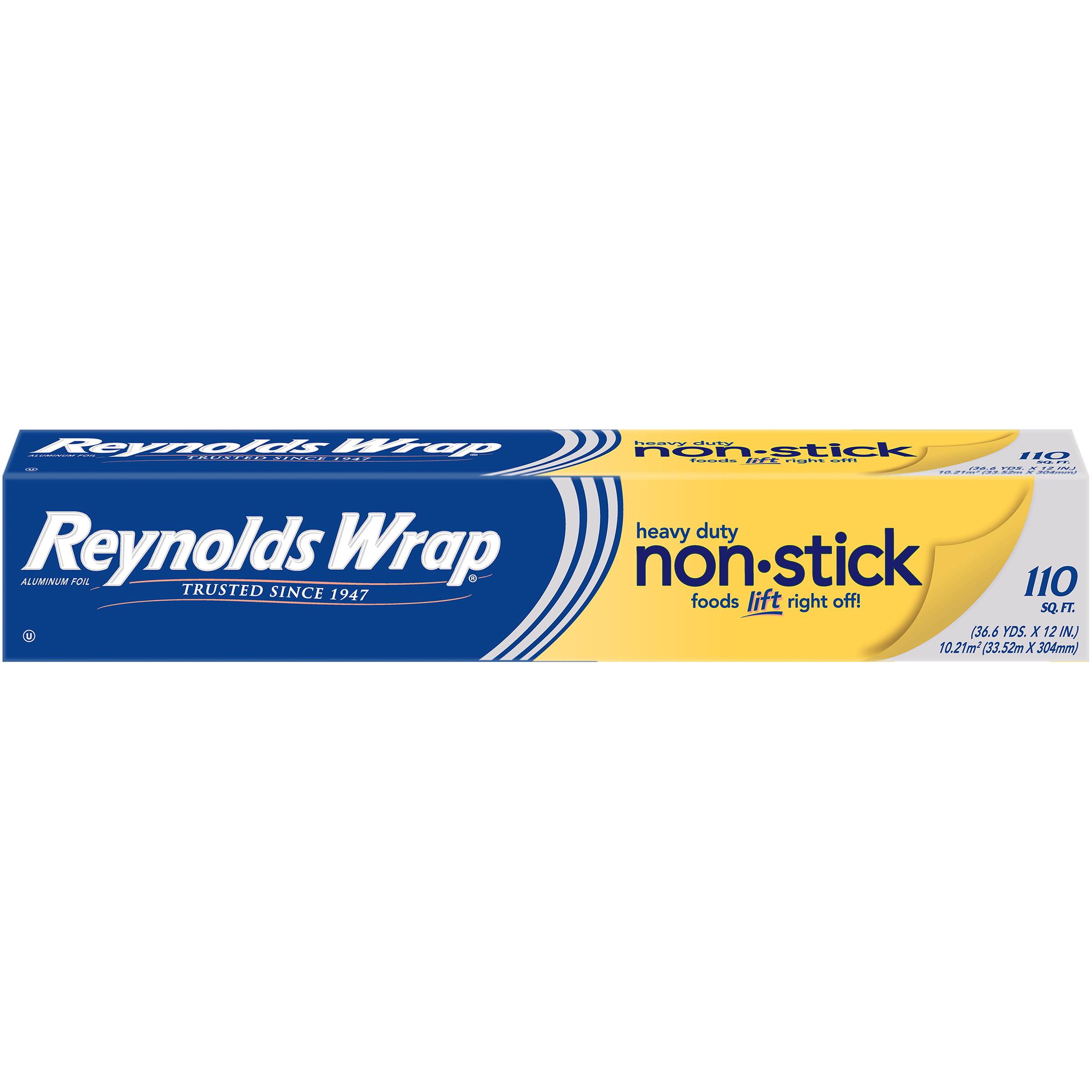 Reynolds Wrap Non-Stick Heavy Duty Aluminum Foil, 110 Square Feet