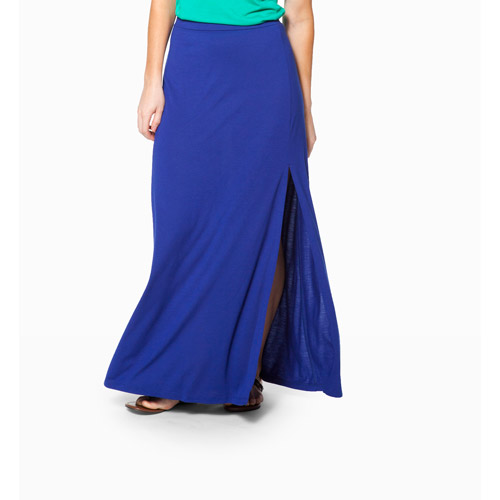Miss Tina Women's Maxi Skirt with Front Slit