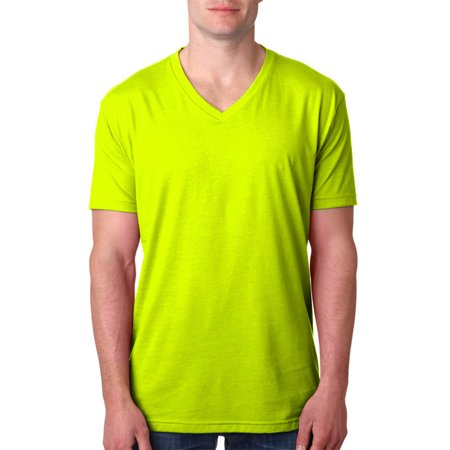 dc69bfee71bb Next Level Apparel - Next Level 6240 Men's CVC V-Neck T-Shirt - Neon Yellow  - X-Large - Walmart.com
