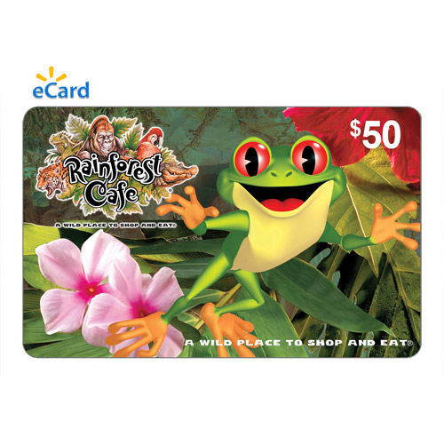 Rainforest Cafe $50 eGift Card (Email Delivery)