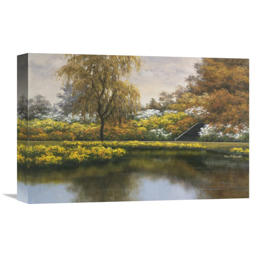 Global Gallery 'Floral Gardens' by Diane Romanello Painting Print on Wrapped Canvas