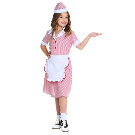 Girl's 50's Car Hop Costume - Car Hop Costume