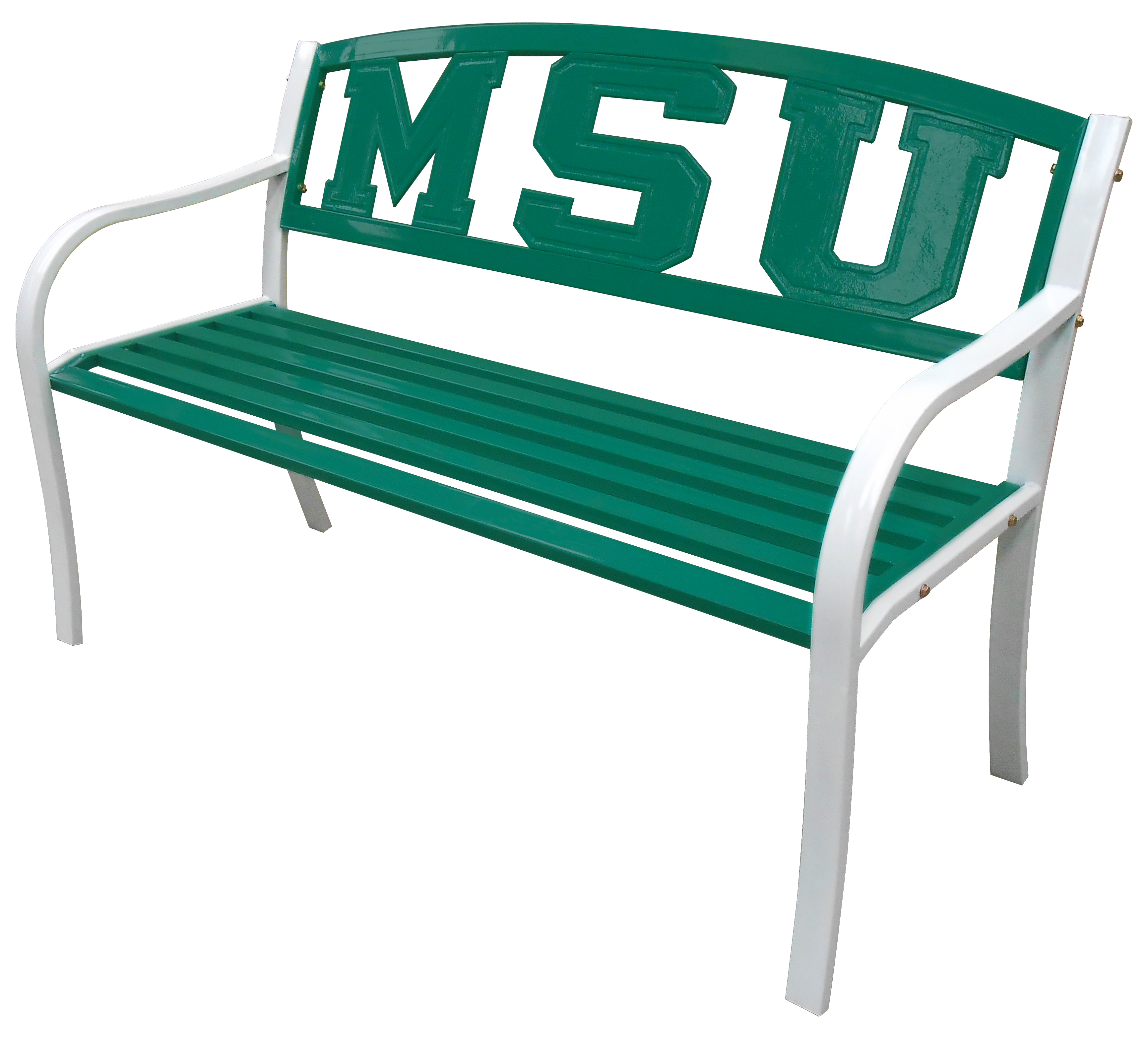 Leigh Country MSU Spartans Metal Bench