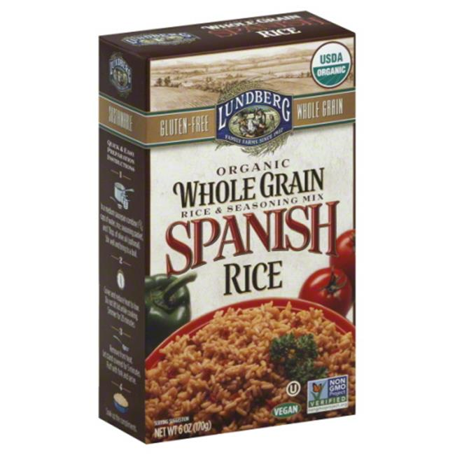 LUNDBERG MIX RICE WHLGRN SPNSH ORG-6 OZ -Pack of 6