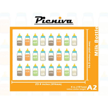 "A2(4"""")Milk Bottle Baby Kid Nursery Room Decal Sticker Clear Vinyl Wall Art decor -  Picniva"