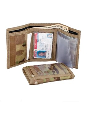 Made in USA Rainbow of California Camouflage Trifold Mens Wallet Outside & Inside ID