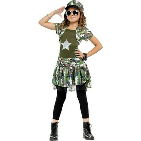 Fun World Army Cutie Girls Halloween Costume