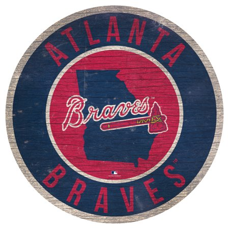 - Atlanta Braves 12'' x 12'' State Circle Sign - No Size